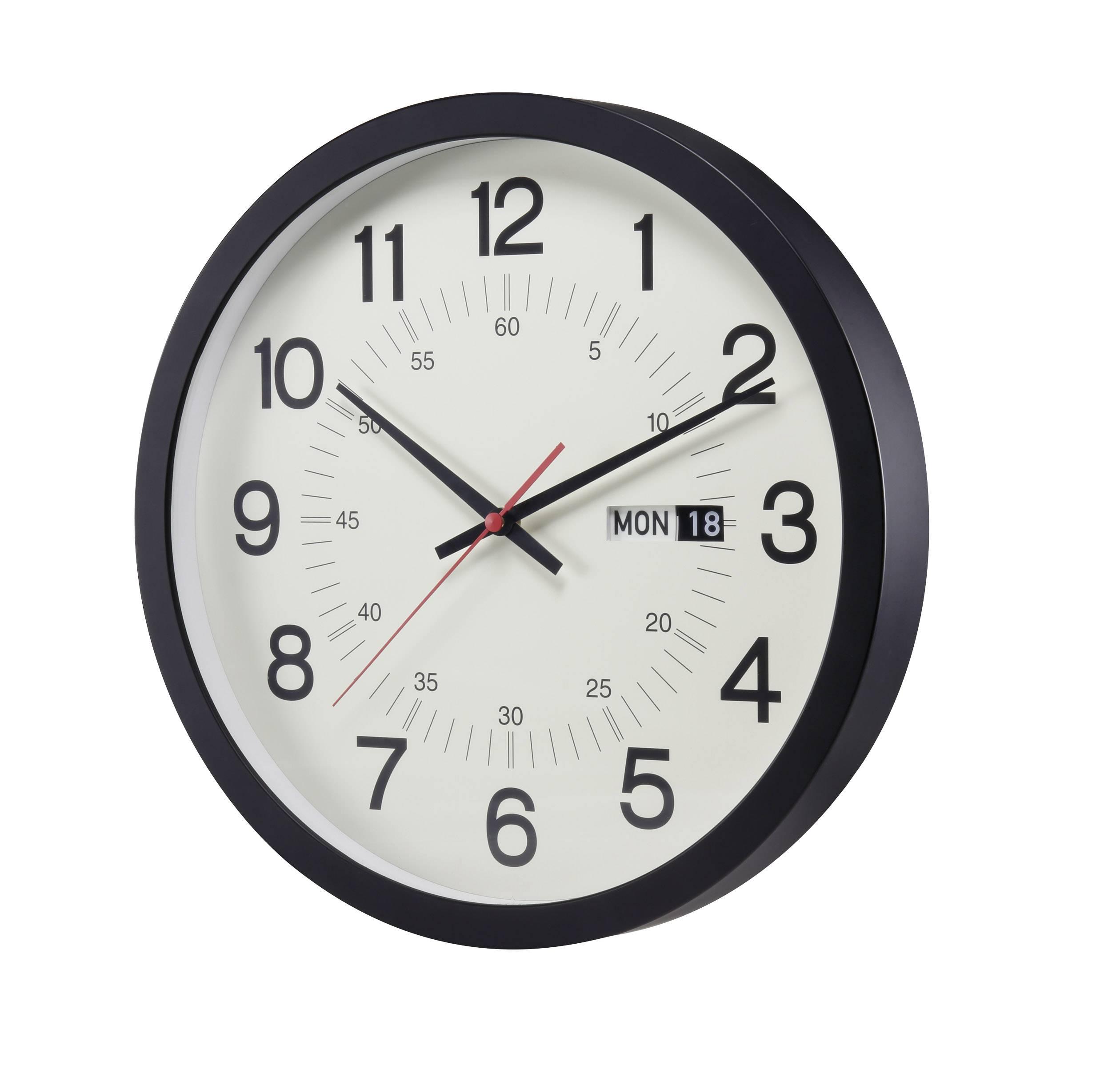 Analógové nástenné hodiny s dátumom RENKFORCE J689P-CP