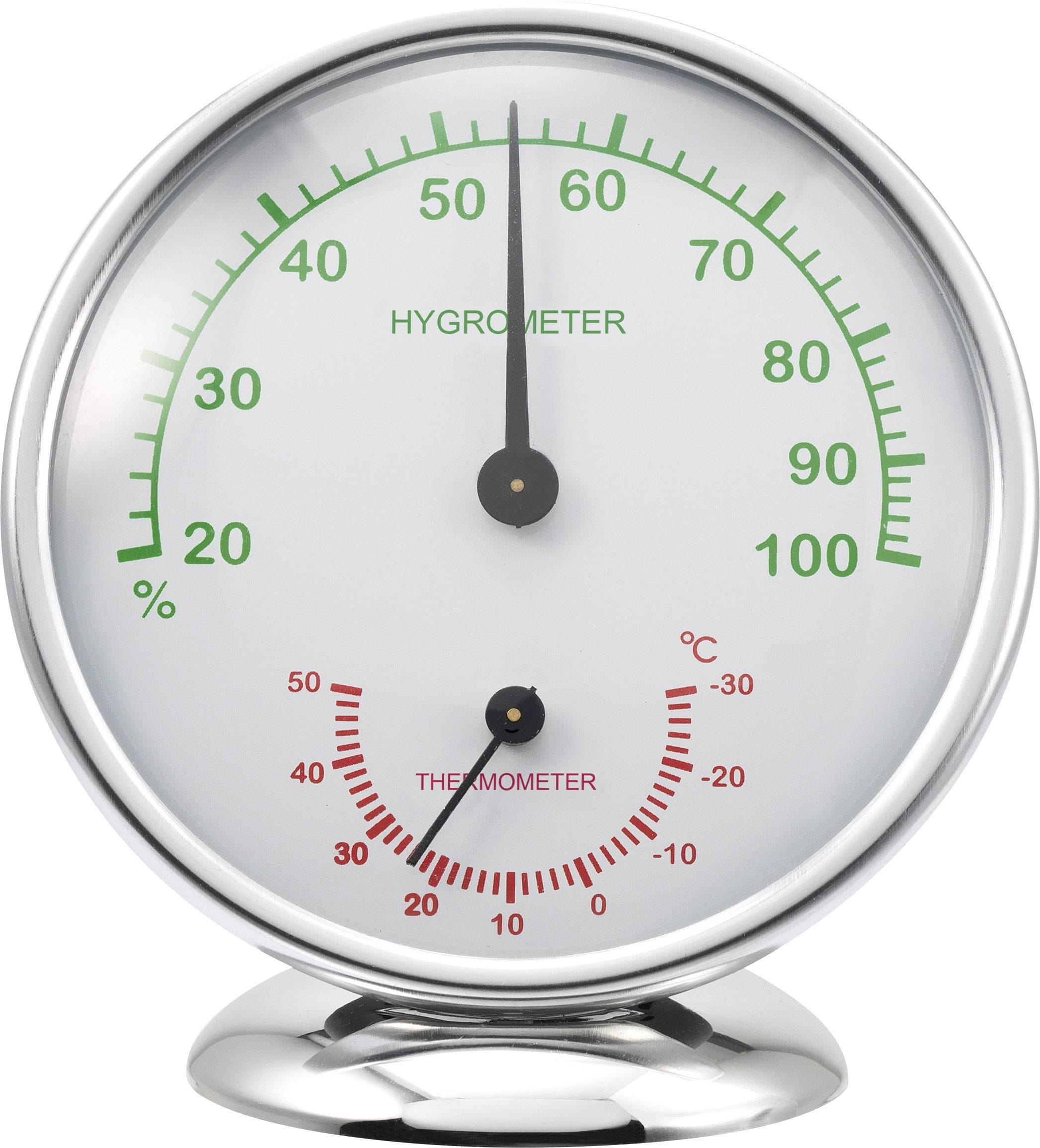Analogový teploměr/vlhkoměr Renkforce 6510, hliník