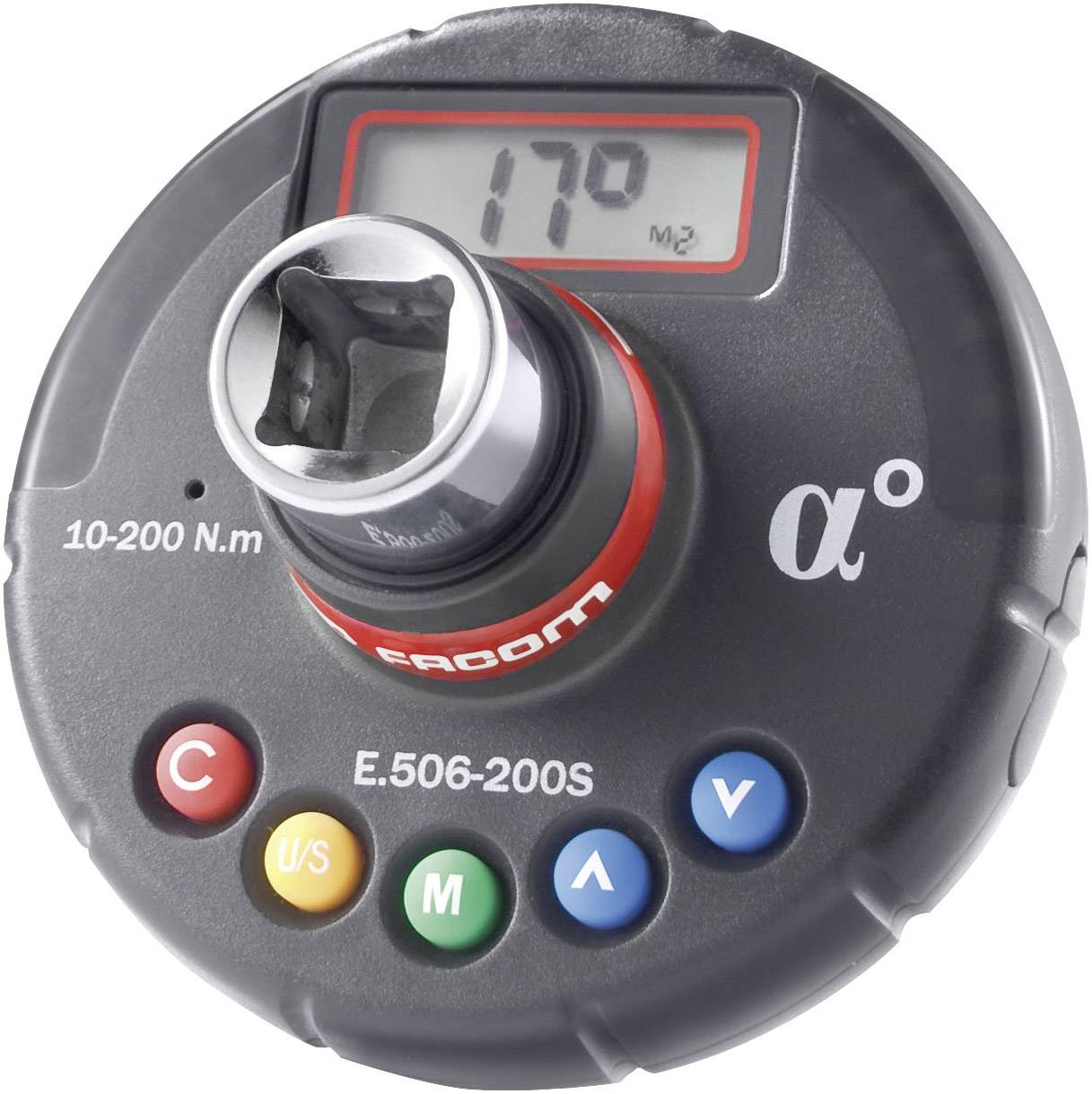 "Digitální momentový adaptér na ráčnu Facom E.506-200S, 1/2"" (12,5 mm), 10 - 200 Nm"