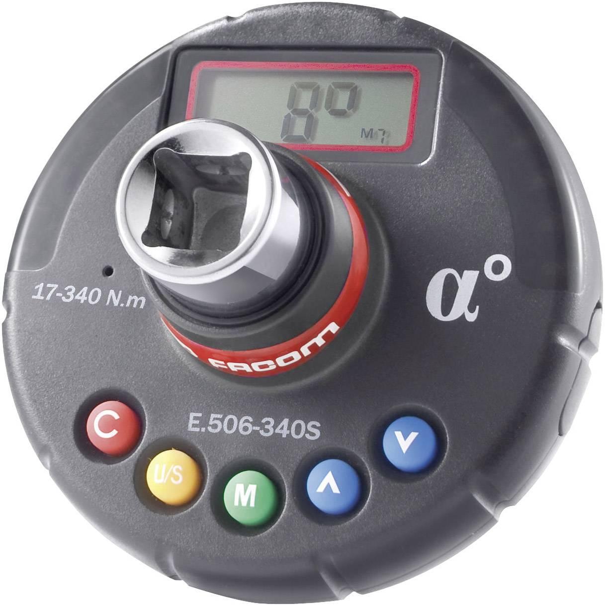"Digitální momentový adaptér na ráčnu Facom E.506-340S, 1/2"" (12,5 mm), 17 - 340 Nm"