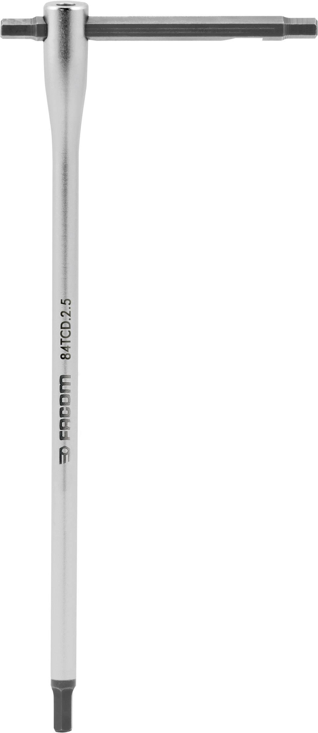 Imbusový kľúč s flexibilnou T rukoväťou Facom 84TCD.2.5, 2,5 mm