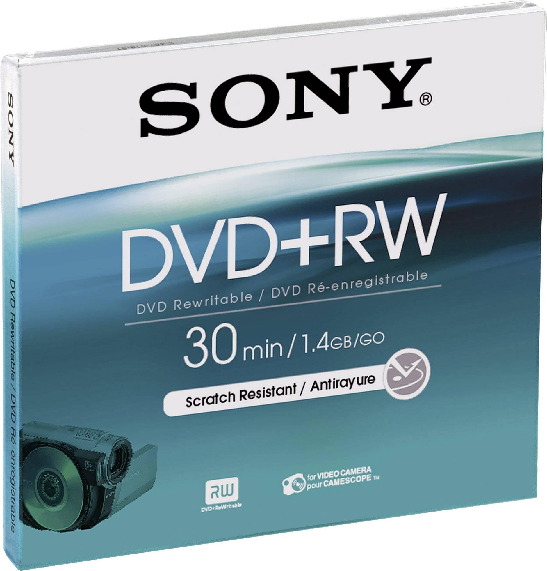 Mini DVD+RW - 8 cm 1.46 GB Sony DPW30A, přepisovatelné, 5 ks, Jewelcase