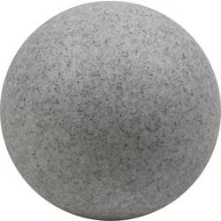 LED, úsporná žiarovka guľa, záhradné osvetlenie Heitronic Mundan 35958, E27, 15 W, granit sivá (matná)