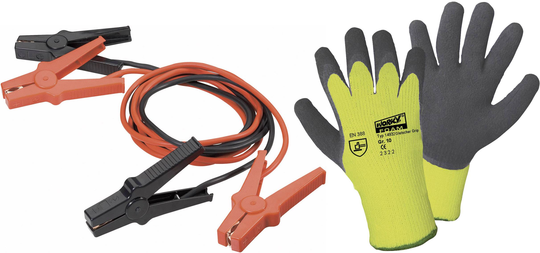 Pomocné štartovacie káble + rukavice, 16 mm², hliník (pomedený), 3 m