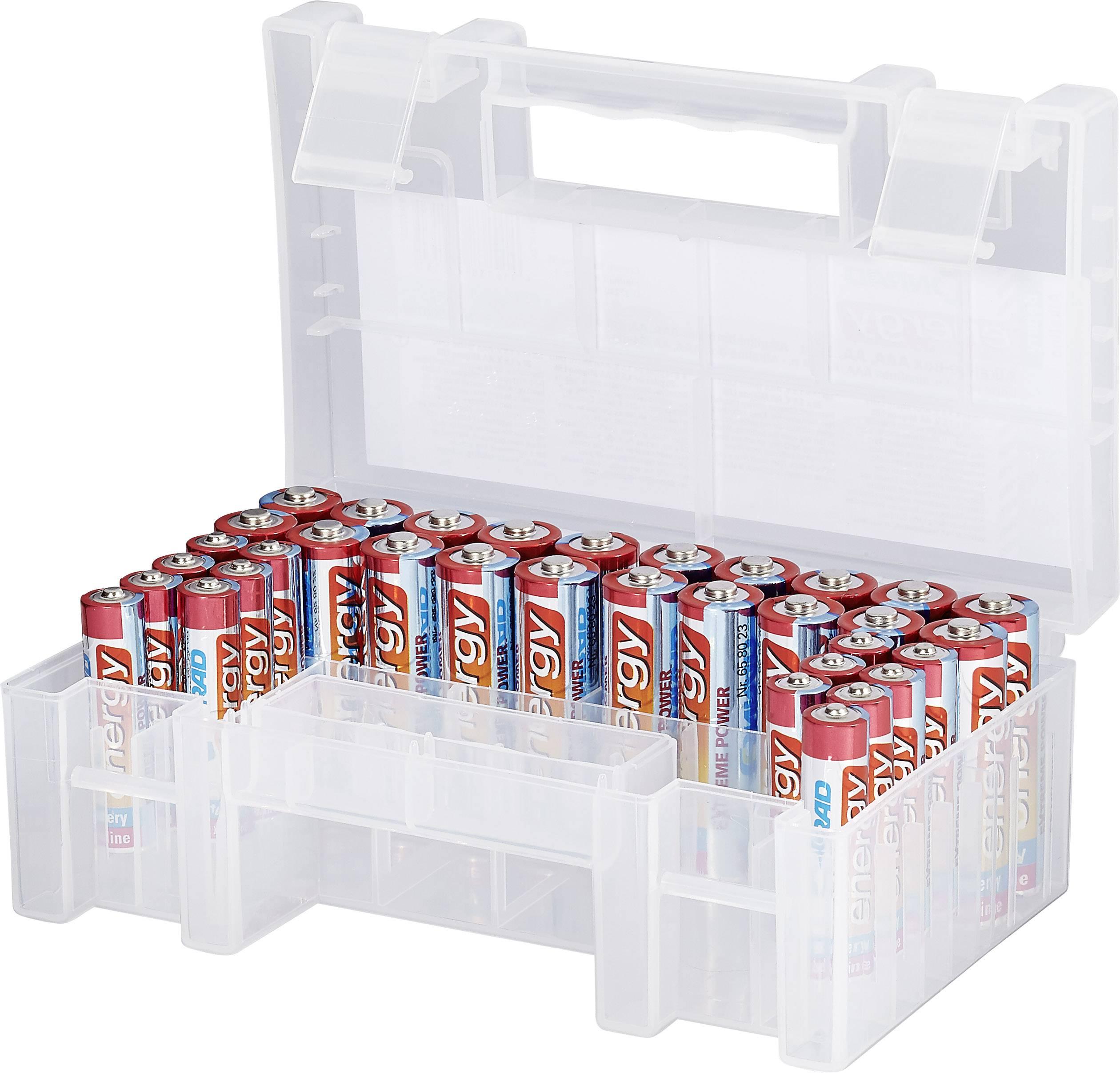 Výhodná sada alkalických baterií Conrad energy Extreme Power, AAA + AA, 34ks