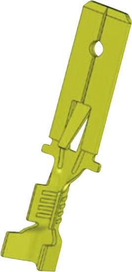 Faston konektor odolný proti vibracím 6.3 mm x 0.8 mm 180 ° bez izolace mosaz 3836z08.60 1 ks