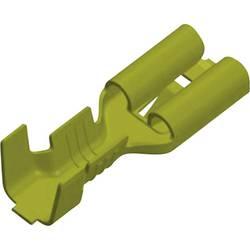 Faston konektor zásuvka Vogt Verbindungstechnik 3800h05.60 odolný proti vibráciám, 4.8 mm x 0.5 mm, 180 °, neizolované, mosadz, 1 ks