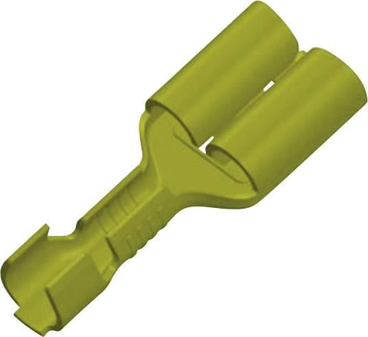Faston konektor zásuvka Vogt Verbindungstechnik 3831h08.60 odolný proti vibráciám, 6.3 mm x 0.8 mm, 180 °, neizolované, mosadz, 1 ks