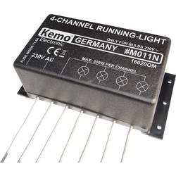 4kanálový modul běžícího světla Kemo M011N, 70 x 120 x 50 mm, 230 V/AC, 4 x 300 W