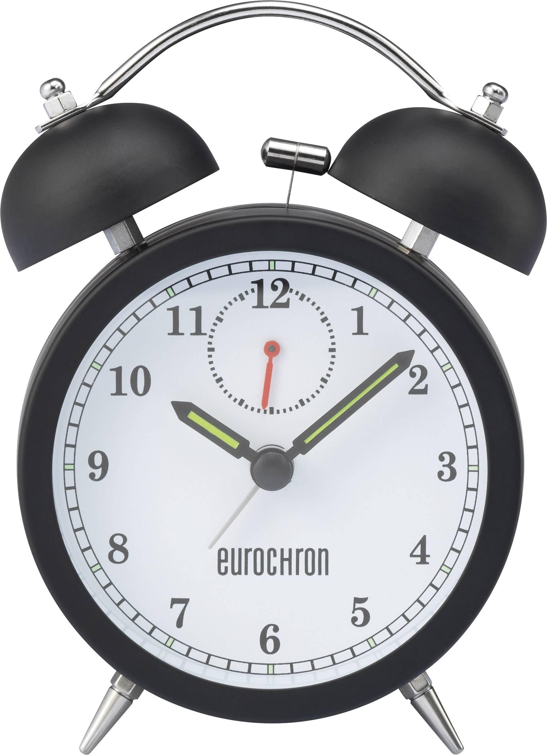 Quartz budík Eurochron EQWG 50, čierna