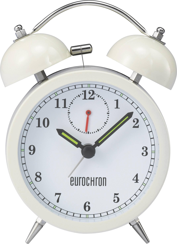 Tichý budík s podsvietením Eurochron EQWG 51, perleťová