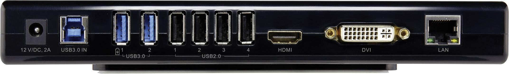 Univerzálna dokovacia stanica RENKFORCE, USB 3.0, LAN, DVI, HDMI