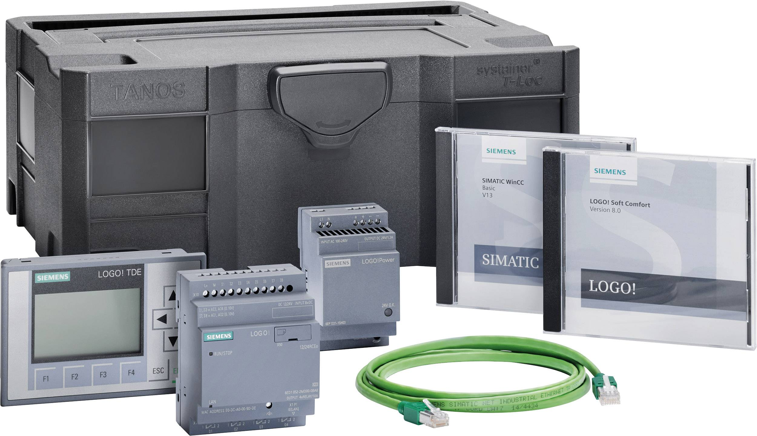 Startovací sada pro PLC Siemens LOGO! TD STARTER KIT 12/24V 6ED1057-3BA11-0AA8, 12 V/DC, 24 V/DC