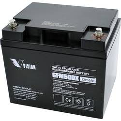 Solární akumulátor Vision Akkus FM-Serie 6FM50DX, 12 V, 50 Ah