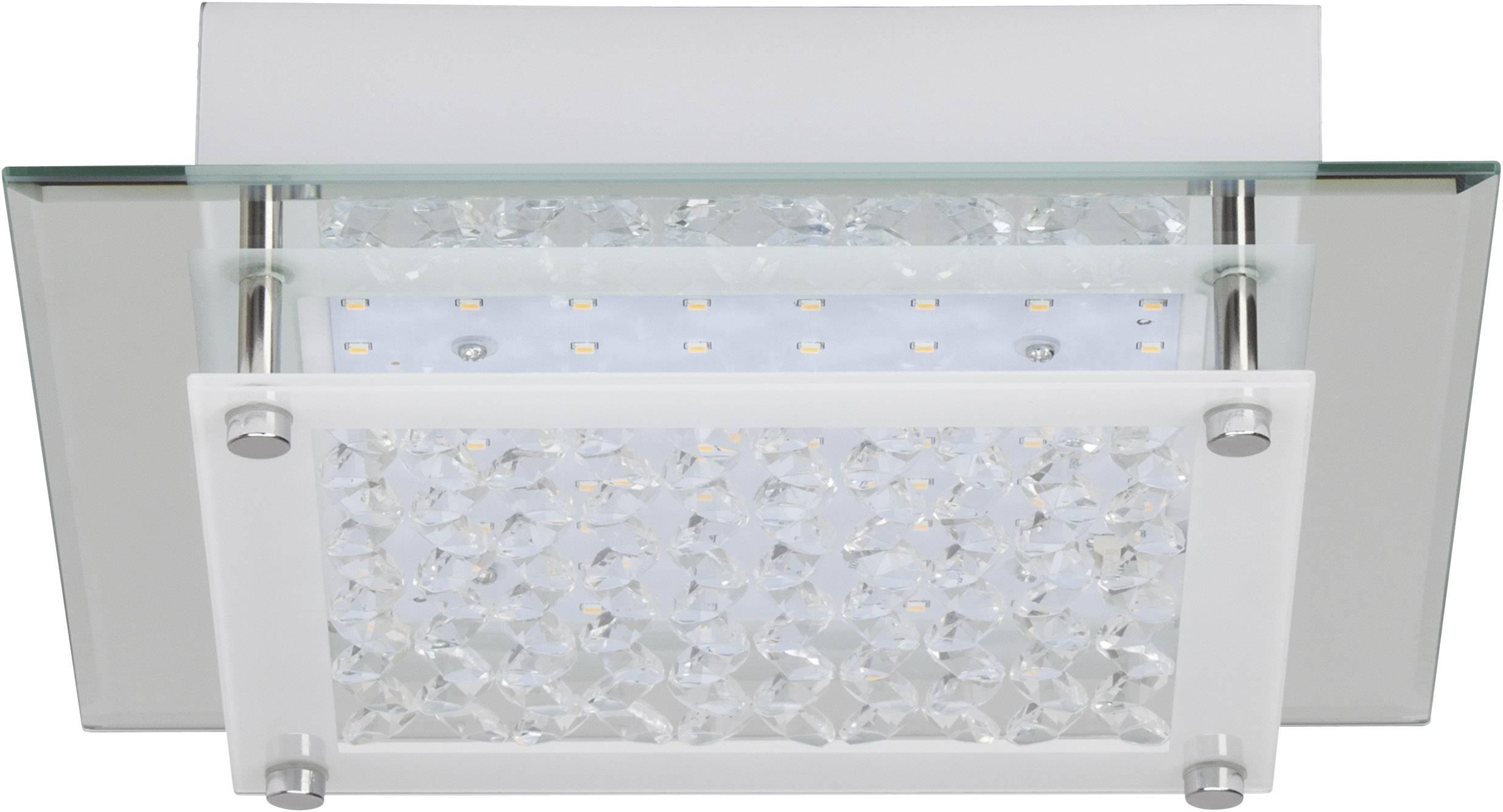 LED stropné svietidlo Brilliant Larina G94280/15, 12 W, teplá biela, chróm