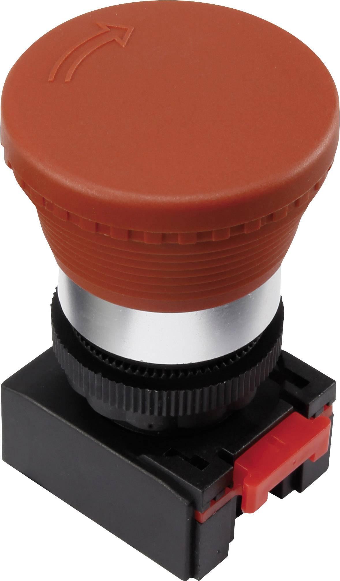 Núdzový vypínač TRU COMPONENTS LAS0-K-TSB, otočenie, červená, 1 ks