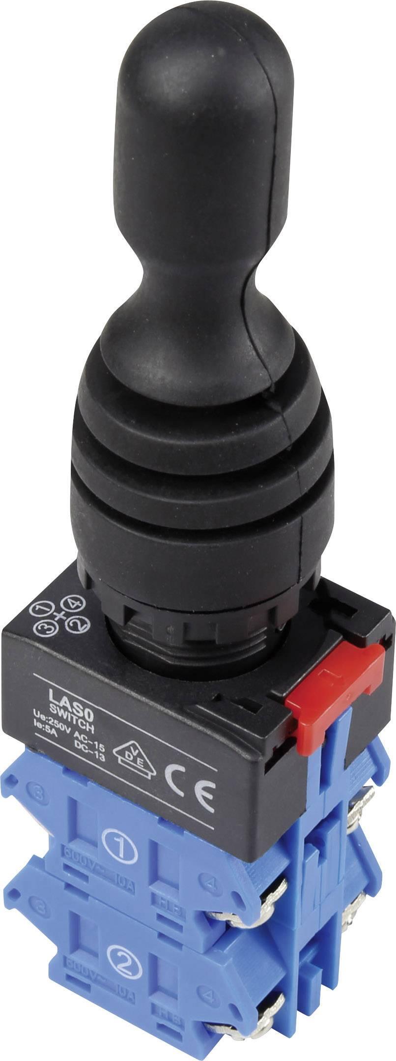 Joystick TRU COMPONENTS LAS0-K-40C41, rovná páka, šroubovací, 250 V/AC, IP67, 1 ks