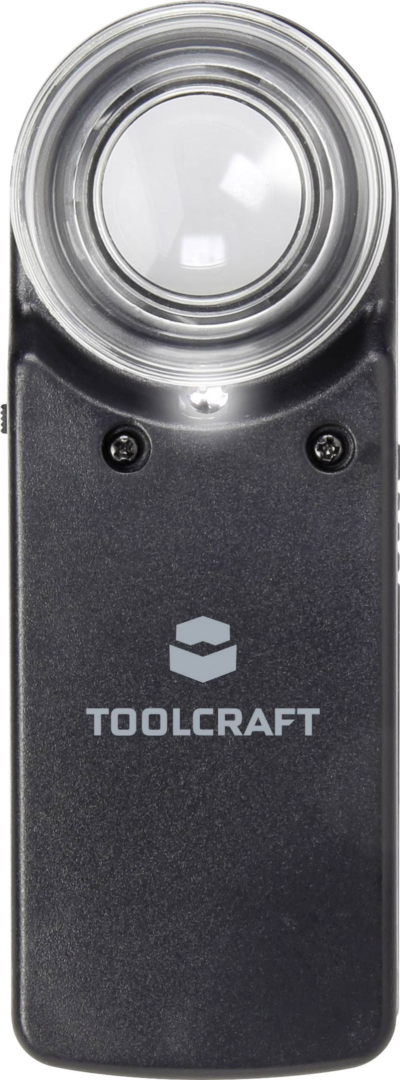 Ruční lupa s osvětlením Toolcraft, zvětšení 15x, Ø 20 mm