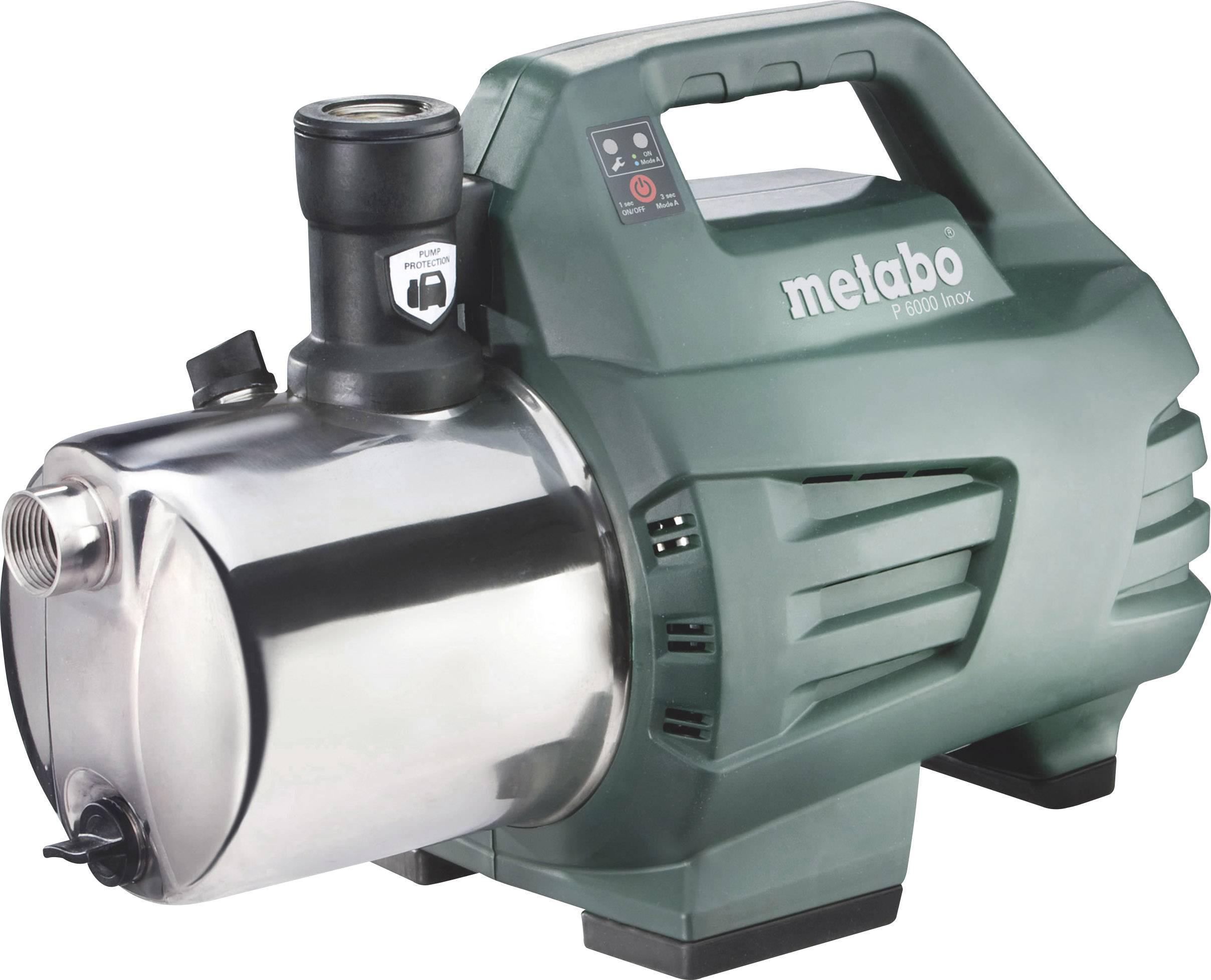 Zahradní čerpadlo Metabo P 6000 INOX 600966000, 6000 l/h, 55 m, 1300 W