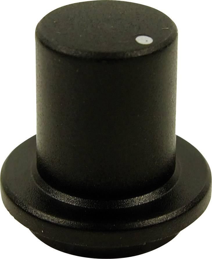 Otočný gombík Cliff FCR7172, (Ø x v) 23 mm x 17 mm, čierna, 1 ks