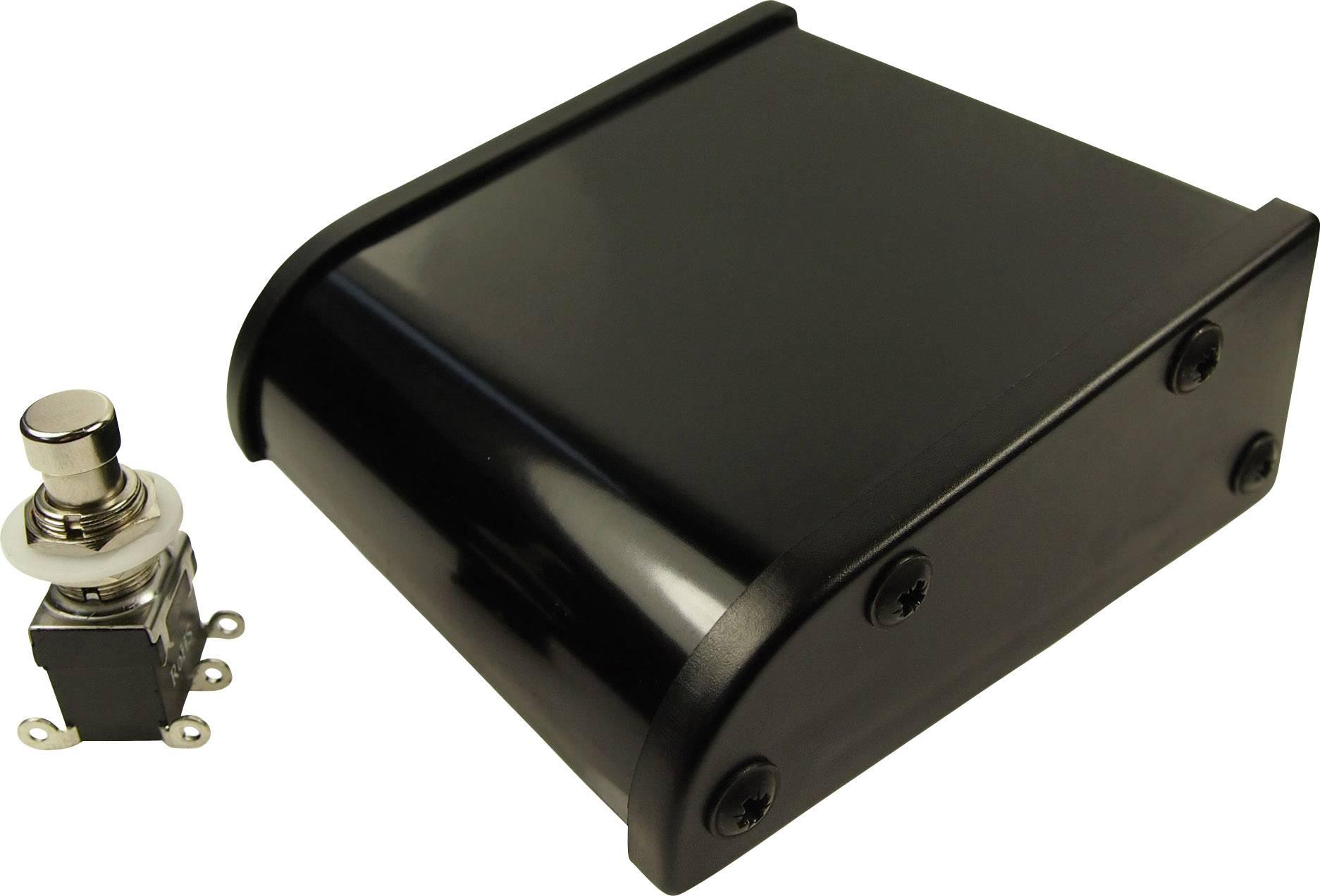 Nožní/ruční tlačítko stavebnice, vypouklý hmatník Cliff CL2107C, 250 V/AC, 2 A, 2 přepínací kontakty, 1 pedál, 1 ks