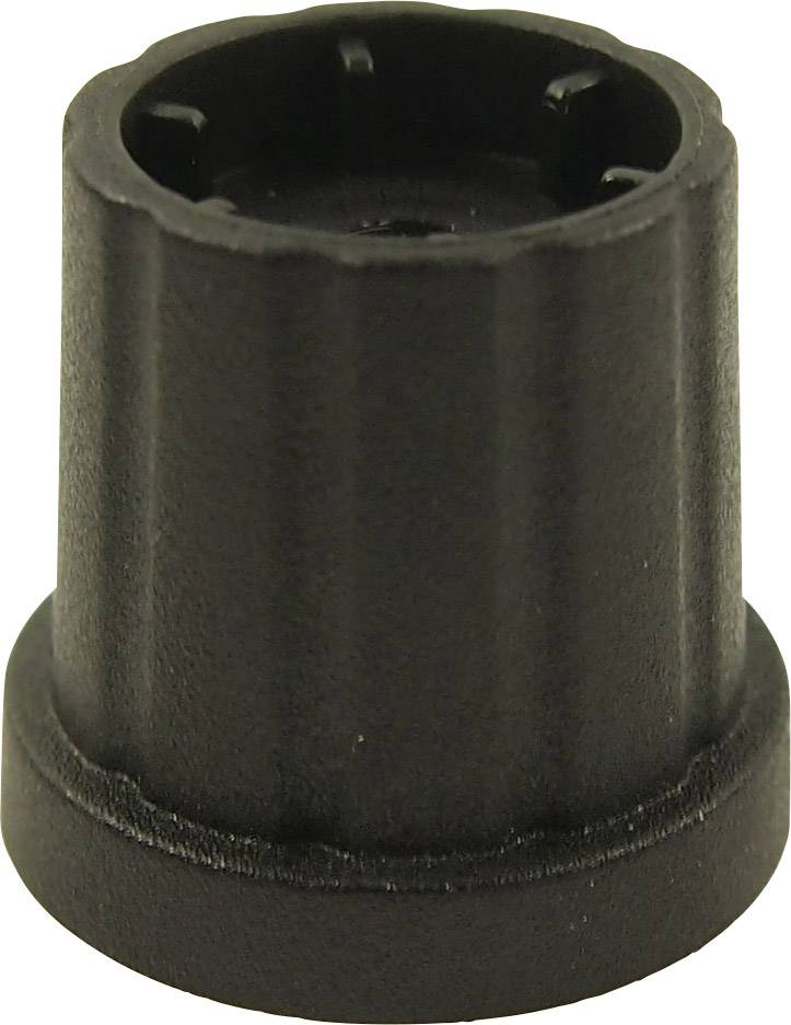 Otočný gombík Cliff CL178883, (Ø x v) 19.3 mm x 19.2 mm, čierna, 1 ks