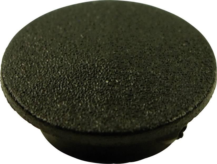 Krytka tlačítka Cliff CL1730, černá, 9,25 mm
