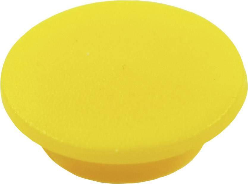 Krytka tlačítka Cliff CL1738, žlutá, 9,25 mm, žlutá