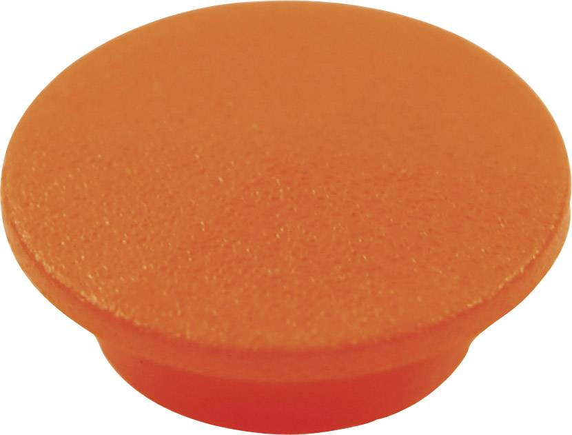 Krytka tlačítka Cliff CL1744, oranžová, 9,25 mm