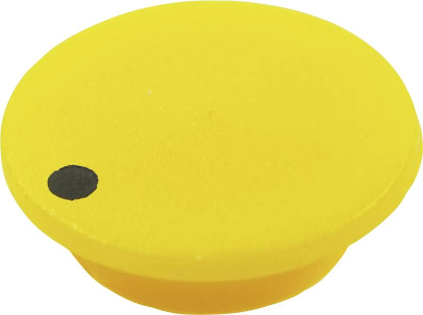 Krytka tlačítka Cliff CL1752, žlutá, 9,25 mm, žlutá