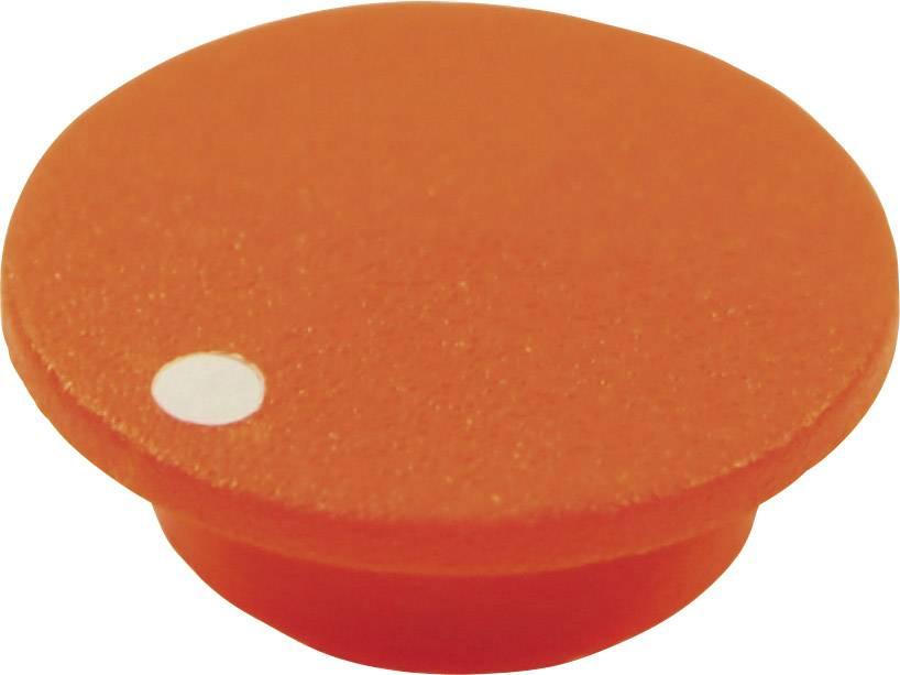 Krytka tlačítka Cliff CL1761, oranžová, 9,25 mm