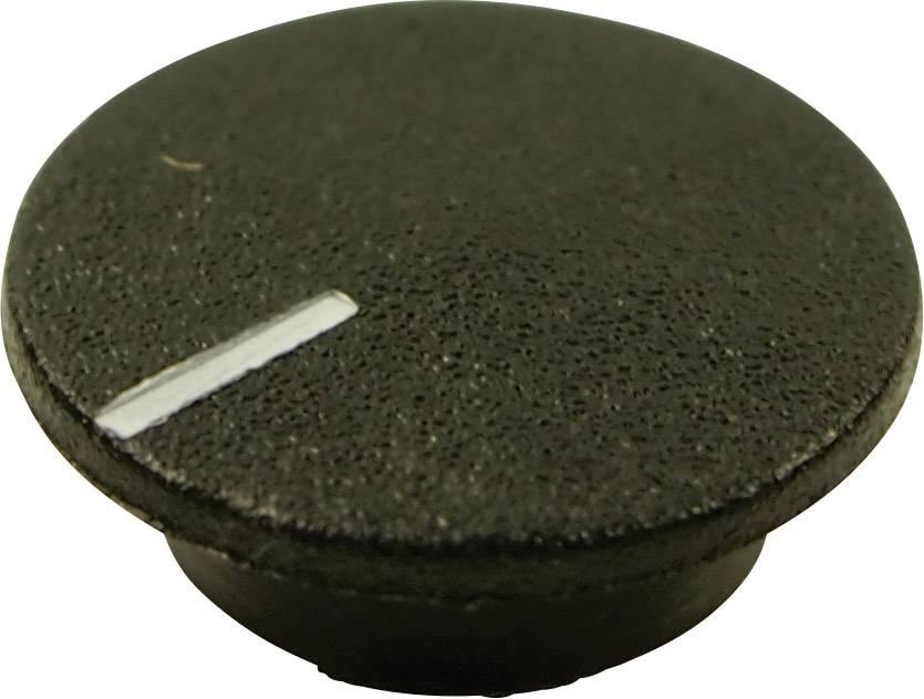 Krytka tlačítka Cliff CL1764, černá, 9,25 mm