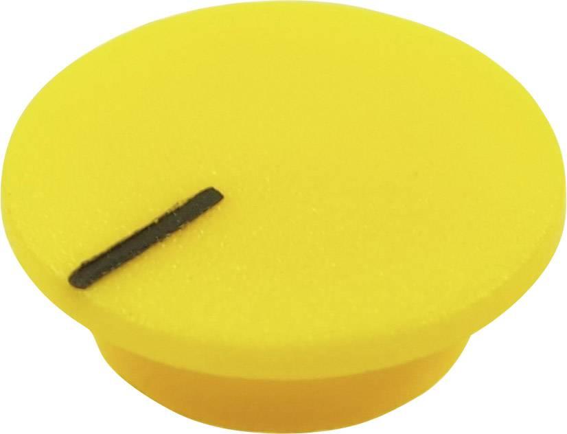 Krytka tlačítka Cliff CL1772, žlutá, 9,25 mm, žlutá