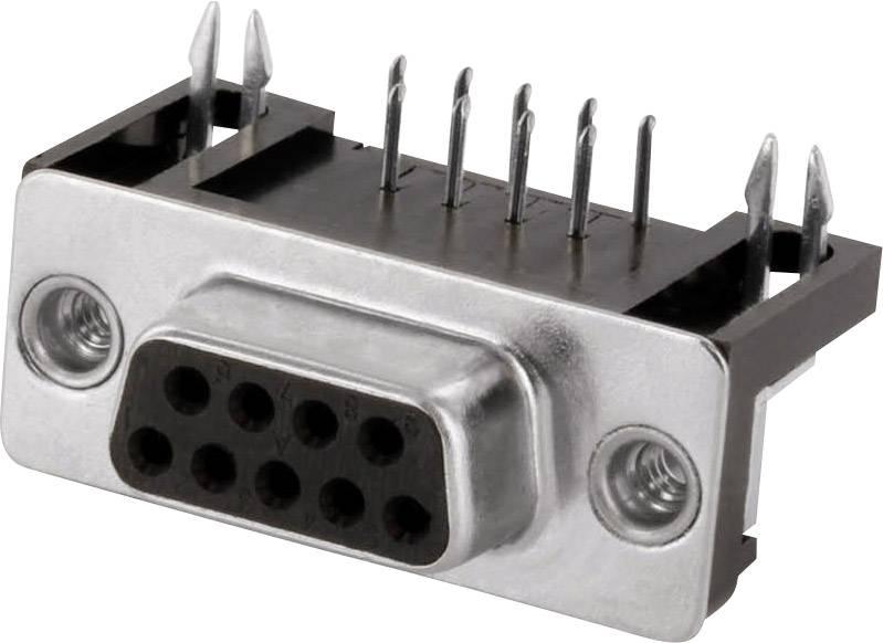 D-SUB zásuvková lišta econ connect BU9WB/9G, 90 °, počet pinov 9, spájkovacie piny, 1 ks