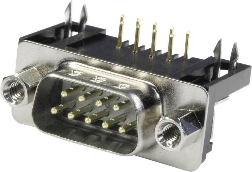 D-SUB kolíková lišta econ connect ST9WB/9, 90 °, počet pinov 9, spájkovacie piny, 1 ks