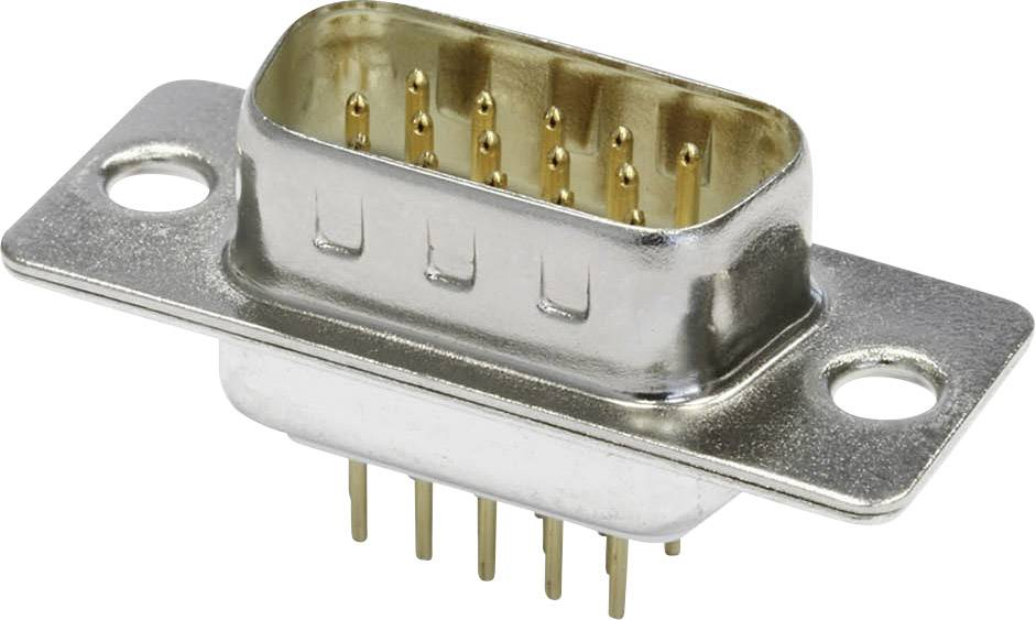 D-SUB kolíková lišta econ connect ST15HDP, 180 °, Počet pinov 15, spájkovacie piny, 1 ks