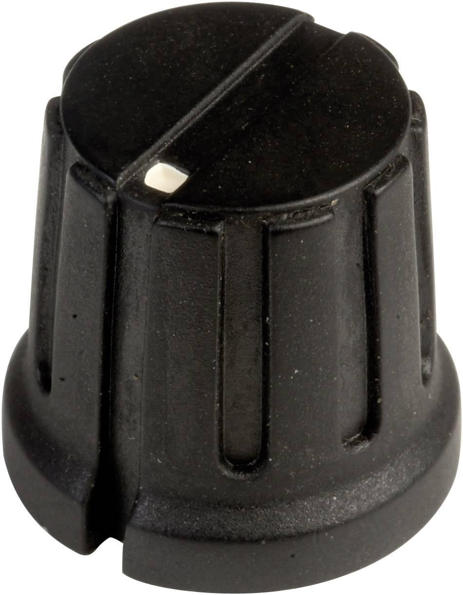 Otočný gombík SCI PN-38D (6.4mm), (Ø x v) 15.5 mm x 14.2 mm, čierna, 1 ks