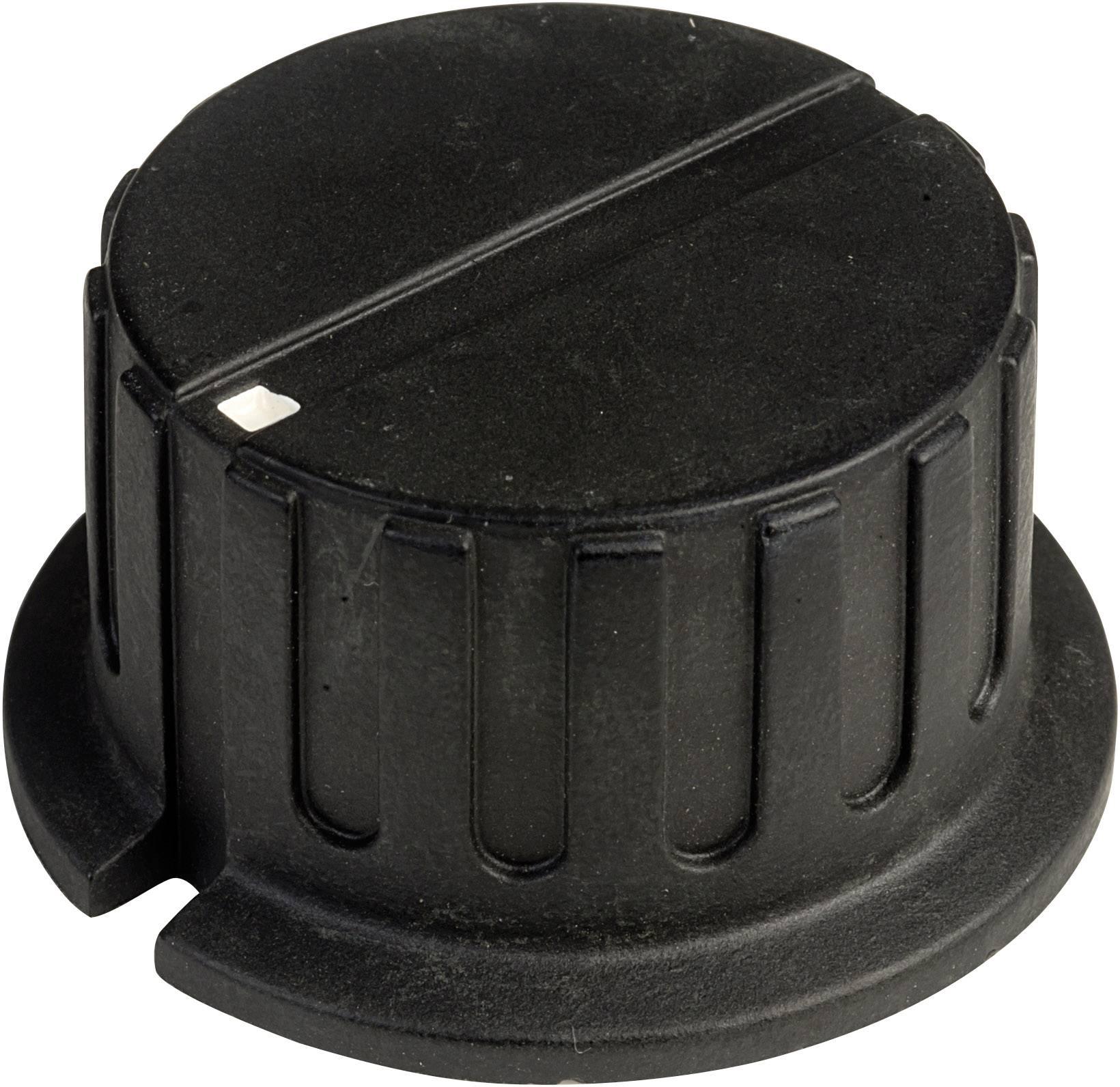 Otočný gombík SCI PN-38A(6.4mm), (Ø x v) 34.8 mm x 18 mm, čierna, 1 ks