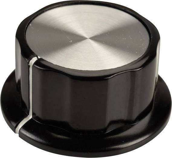 Otočný gombík SCI RN-99A(6.4mm), (Ø x v) 45 mm x 20.3 mm, čierna, biela, 1 ks