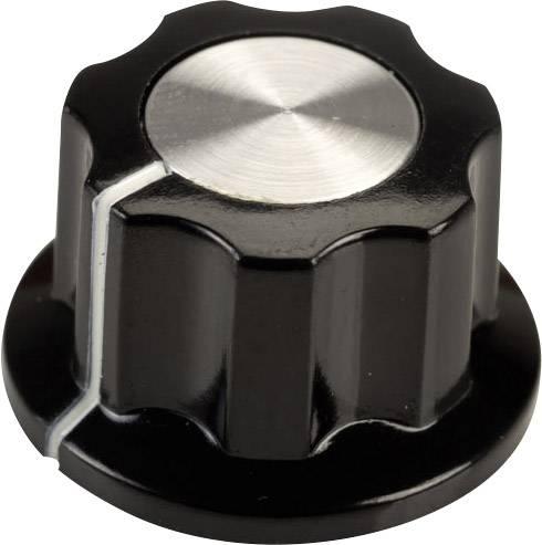 Otočný knoflík SCI RN-99F(6.4mm), (Ø x v) 19.5 mm x 11.5 mm, černá, bílá, 1 ks