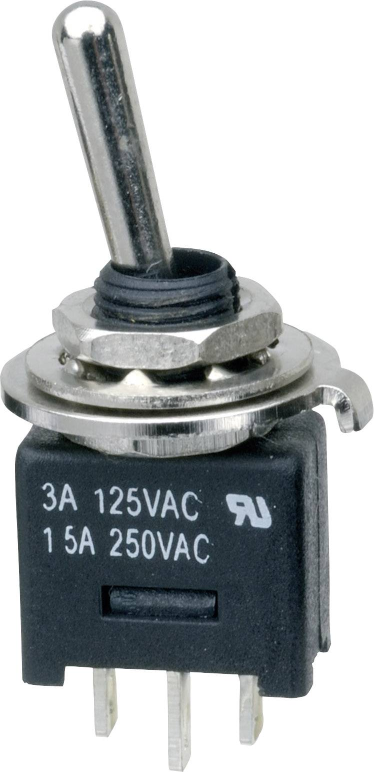 Páčkový spínač SCI MTE102A1, 250 V/AC, 3 A, 1x zap/zap, 1 ks