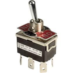 Páčkový spínač SCI R13-29E-01-HPH, 250 V/AC, 10 A, 2x zap/vyp/zap, 1 ks
