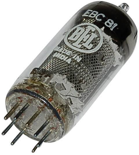 Elektronka EBC 81 = 6 BD 7 A, dvojitá dioda/trioda