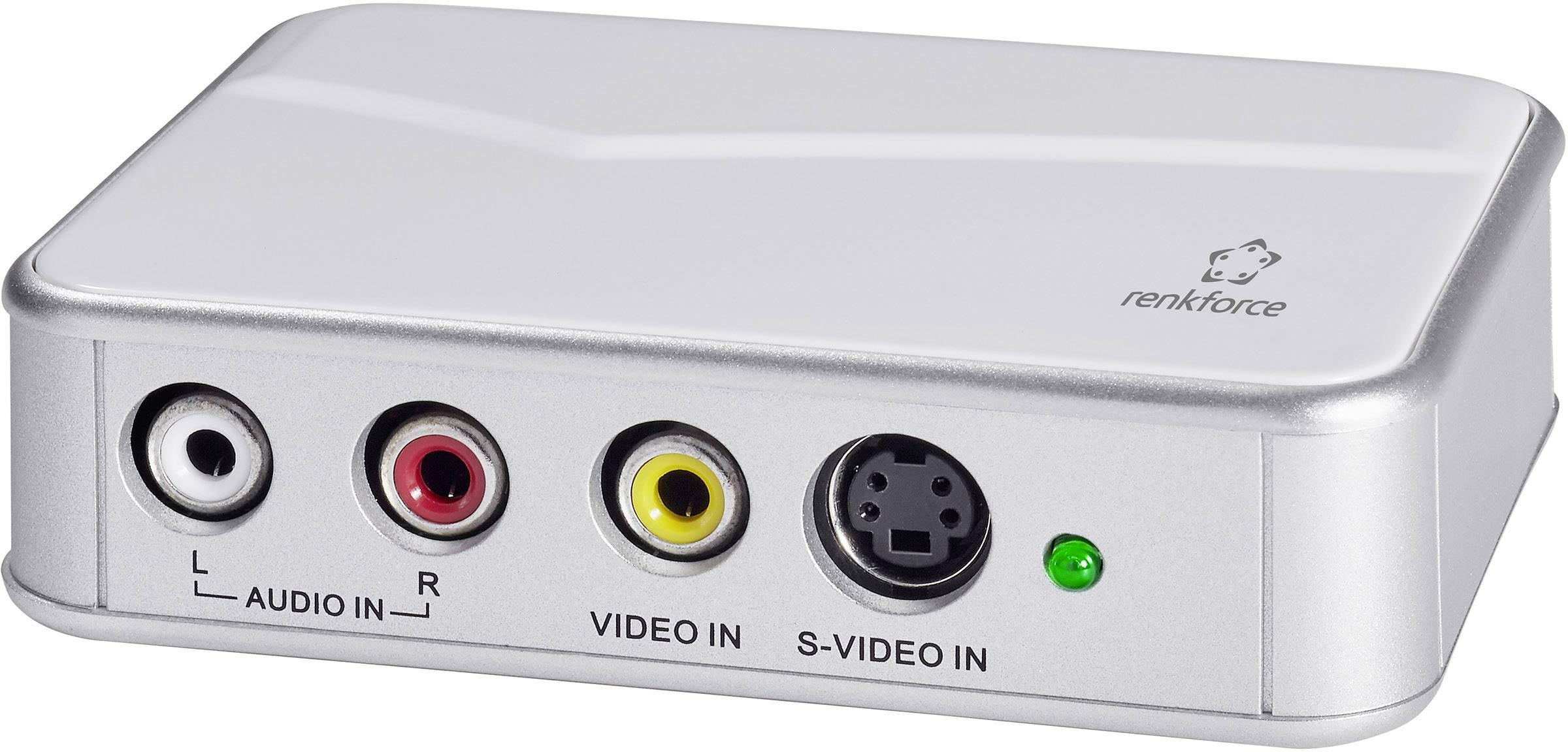 USB zariadenie na prevod videa do digitálneho záznamu, Renkforce GR2 RF-3912696