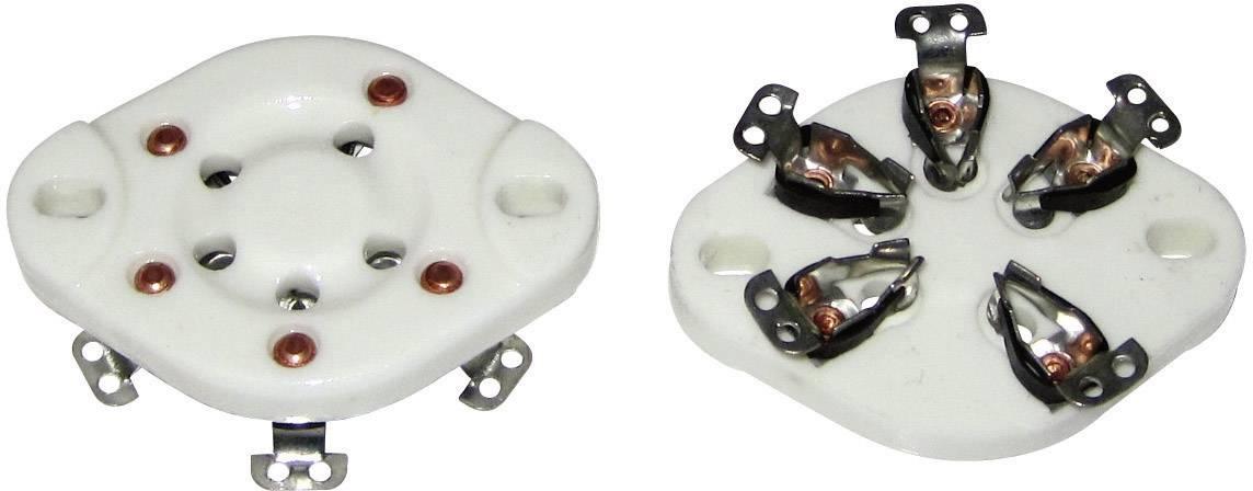 Patice pro elektronky Typ patice UX-5 Popis: Keramika