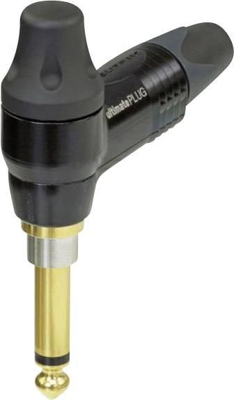 Jack konektor 6.35 mm čiernobiela zástrčka, zahnutá Neutrik NP2RX-ULTIMATE, pinov 2, čierna, 1 ks