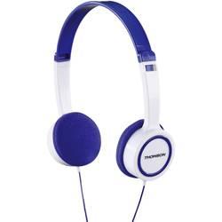 Detské slúchadlá On Ear Thomson HED1105BL On-Ear-Kinderkopfhörer 00132467, biela, modrá