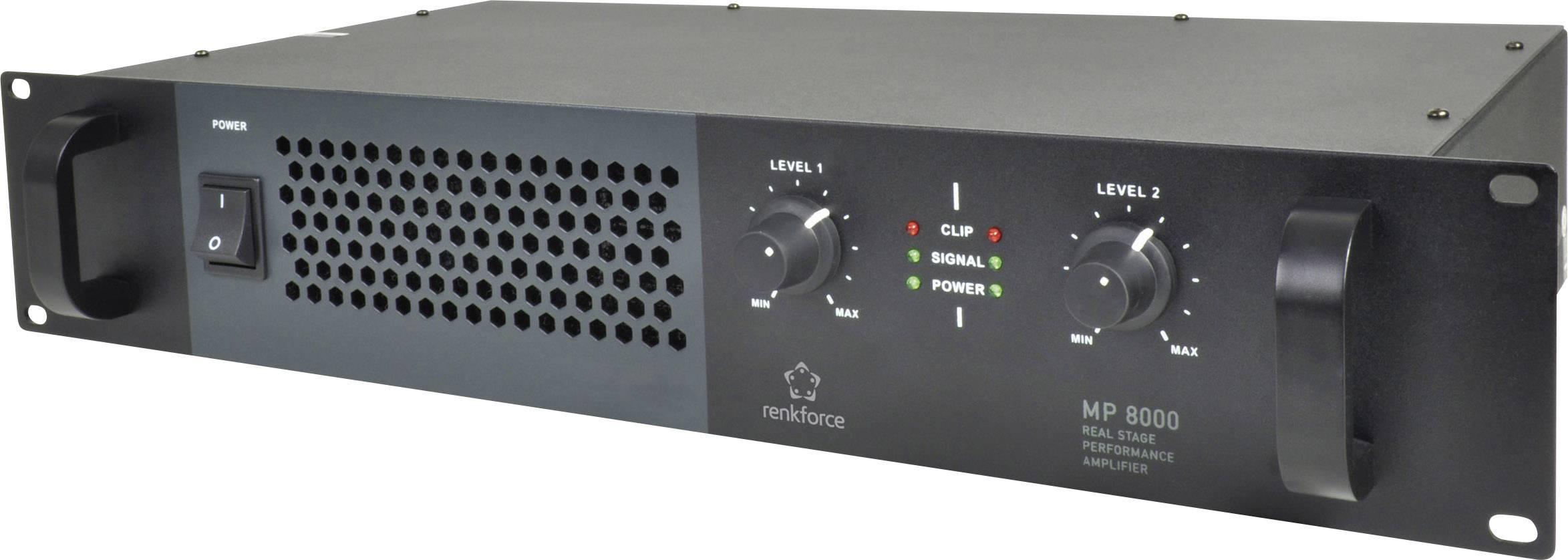PA koncový zosilňovač RENKFORCE MP-8000