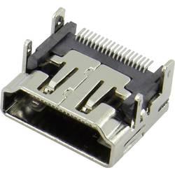 HDMI konektor Attend 206A-SEAN-R03 - zásuvka, vestavná horizontální, stříbrná, pozlacené kontakty, 1 ks