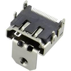 HDMI konektor Attend 206B-SEAN-R03 - zásuvka, vestavná horizontální, stříbrná, pozlacené kontakty, 1 ks